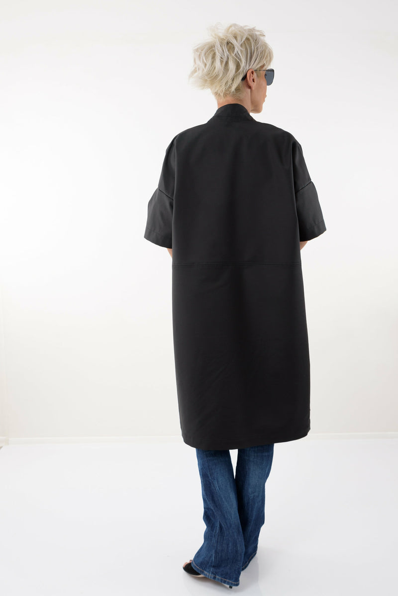 Black Oversized Trench Coat - Clothes By Locker Room