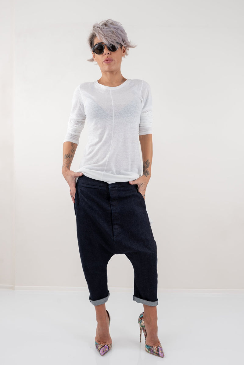 Loose Casual Drop Crotch Harem Pants - Clothes By Locker Room