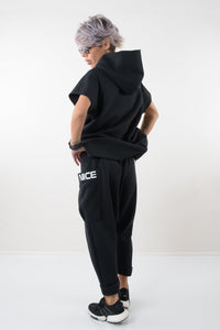 Two Piece Set, Active Wear, Track Harem Pants, Track Jacket