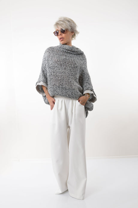 White Drop Crotch Wide Leg Pants - Clothes By Locker Room