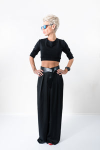 Palazzo Hippie Wide Leg Harem Women Boho Black Pants