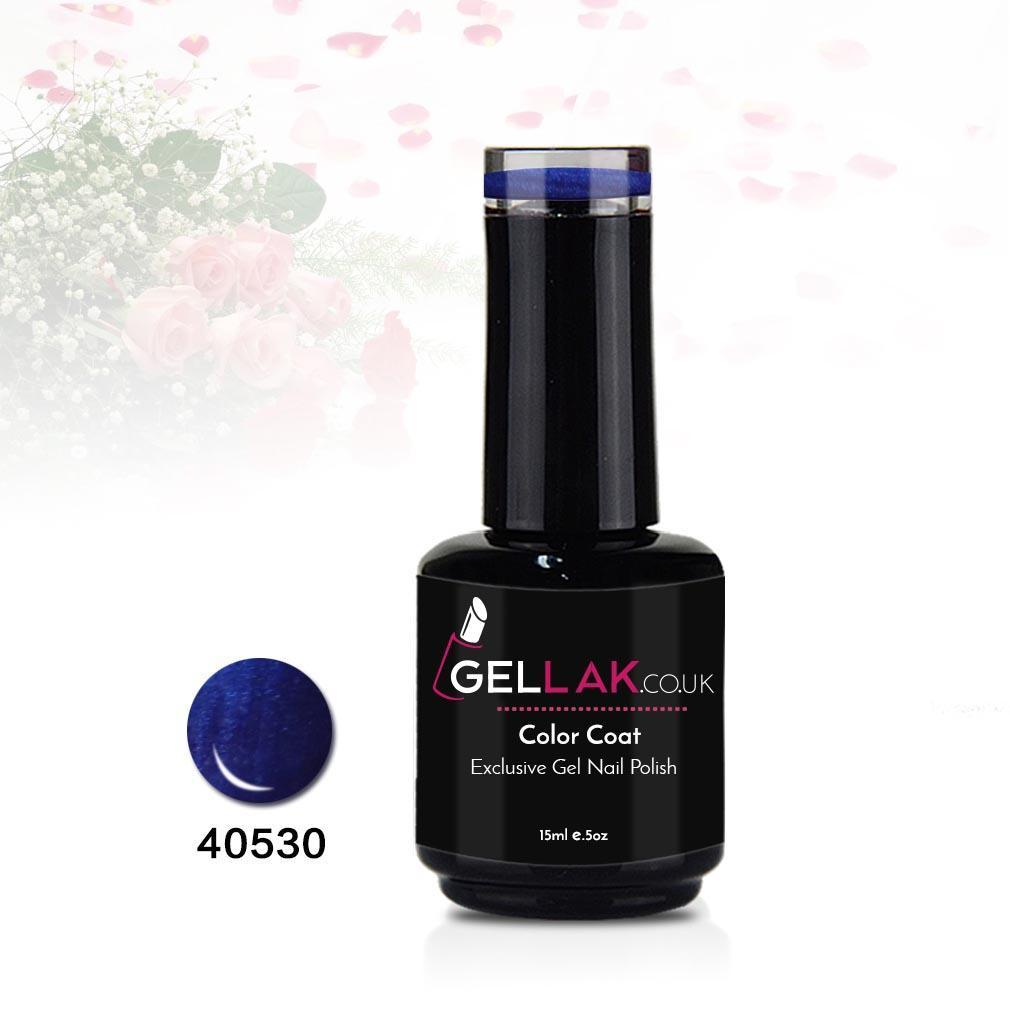 Gel Nail Polish | Gellak.co.uk Color Coat 15 ml No. 40530 Dark Blue
