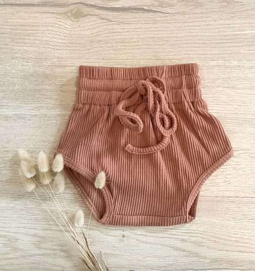 Highwaist Retro Ribbed Bloomer