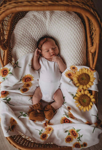 Organic Muslin Wrap - Sunflower