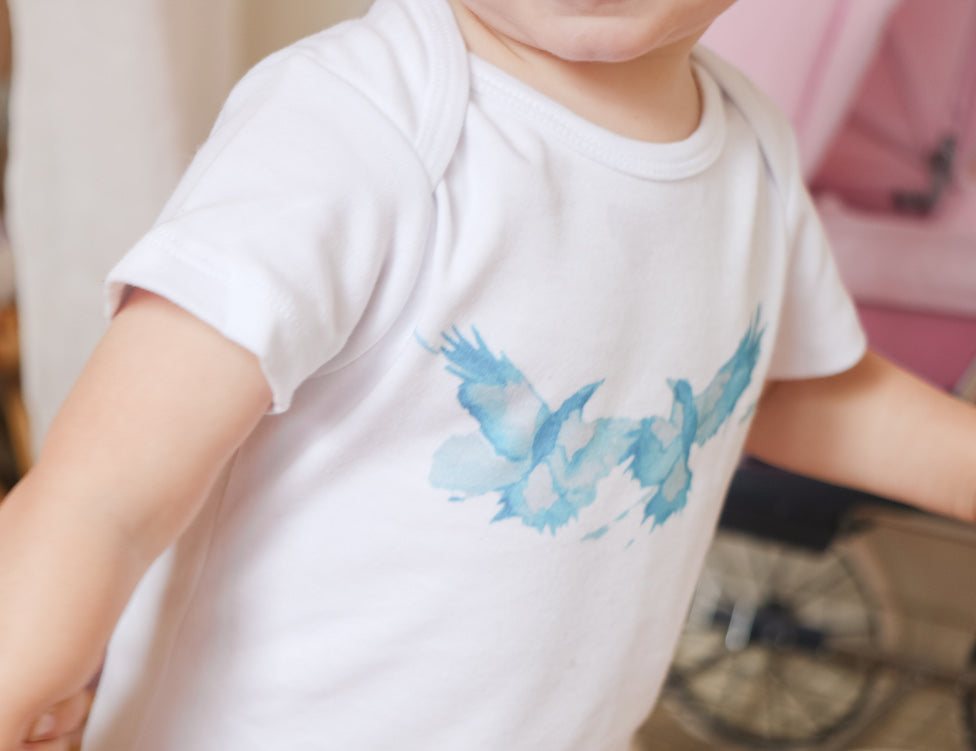 Blue Bird Romper