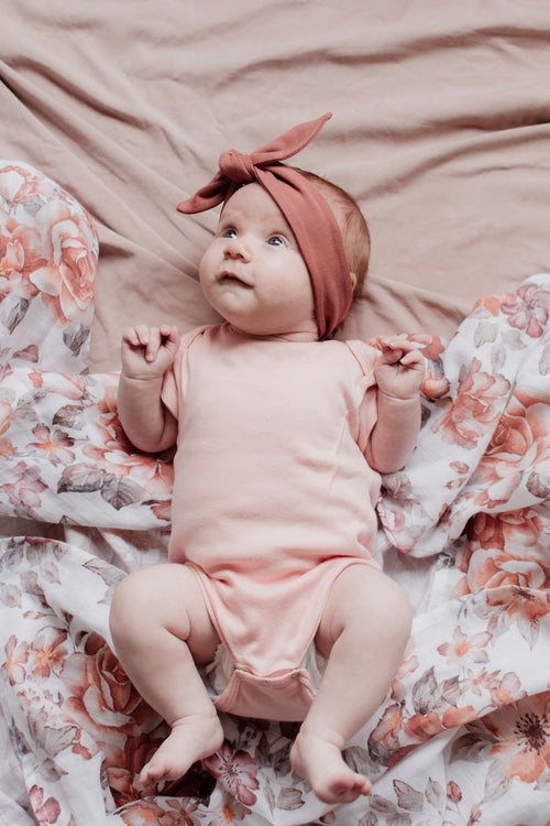Pretty in Salmon Romper