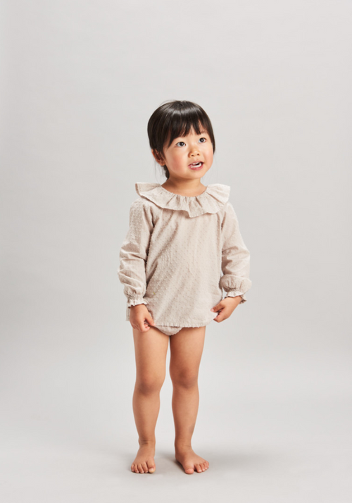 PLUMETI BLOUSE + BLOOMER SET - FLAX