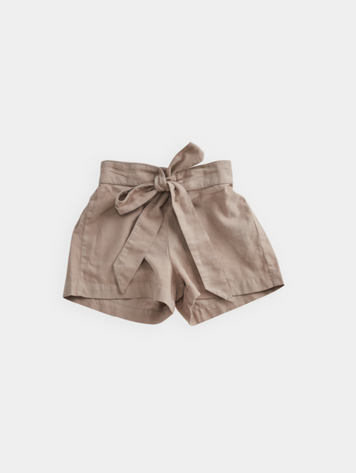 CORD SHORTS - TAUPE