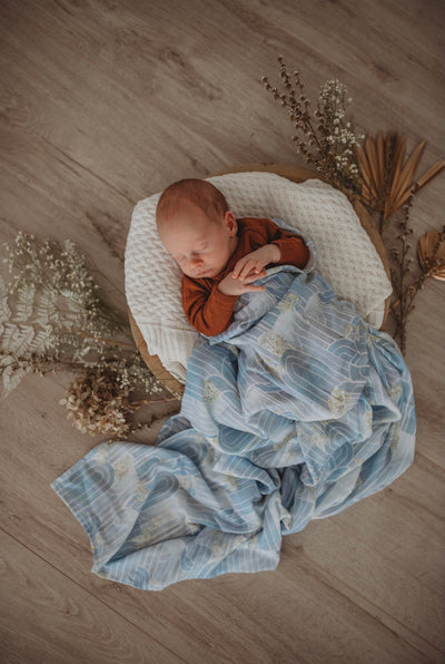 Organic Muslin Wrap - Eventide Miss Kyree Loves