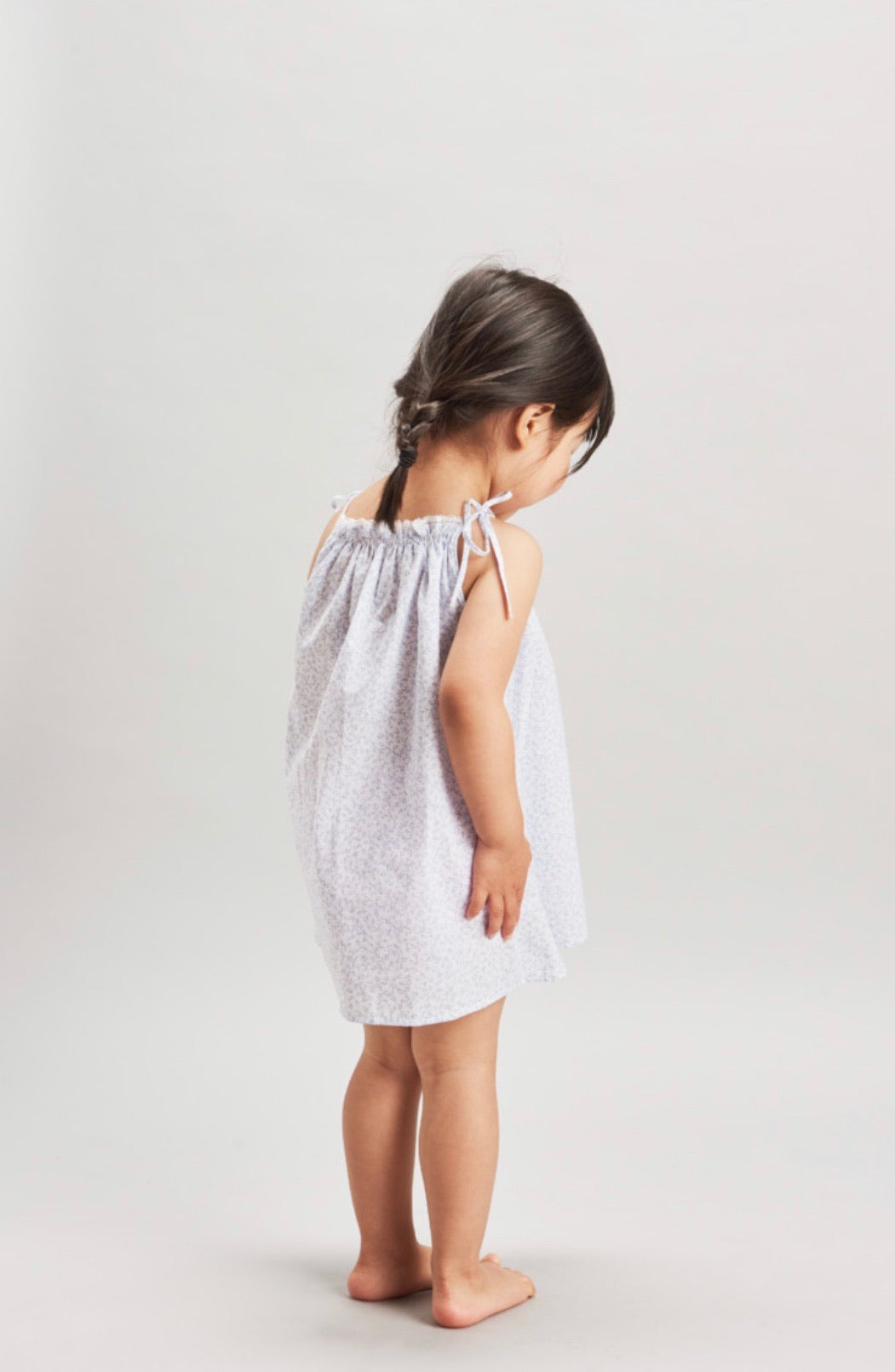 Gathered Sundress | Ditsy Floral - Blue