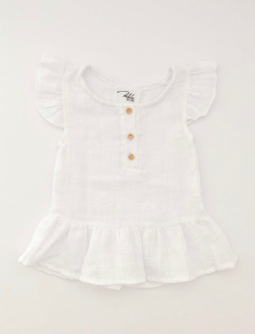 The Coast Frill Top - Blanc