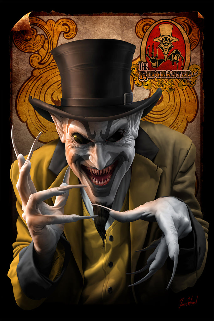ringmaster dark carnival tom wood fantasy art