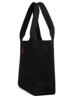 Sutton City Tote - Black Stripe - large