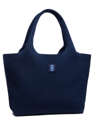 Sutton City Tote - Navy Stripe - large