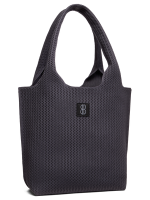 Sutton City Tote - Charcoal Stripe -medium