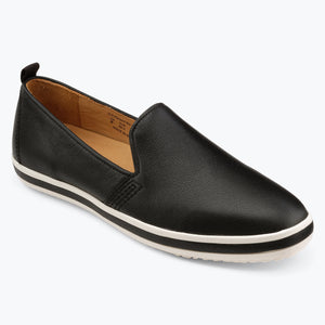 Sutton Leather Slip On - Black