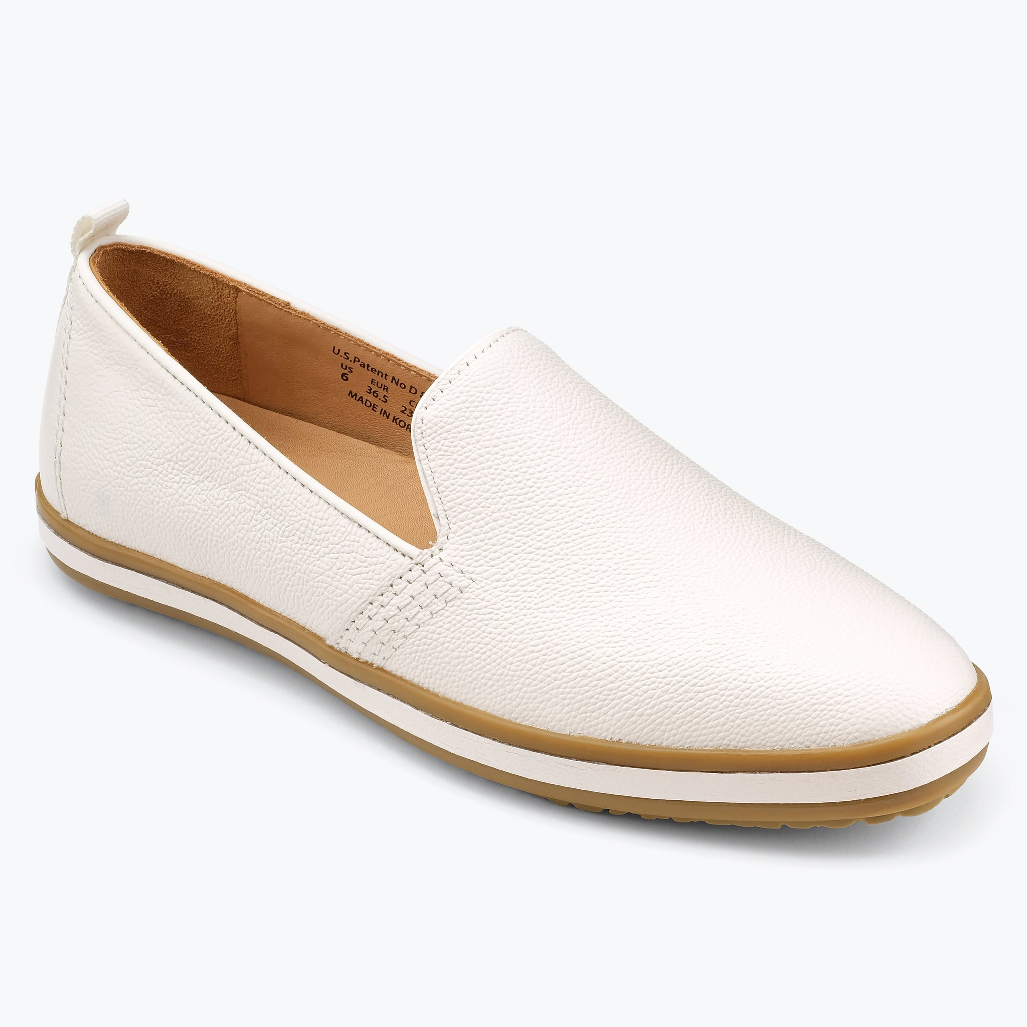 Sutton Leather Slip On - White
