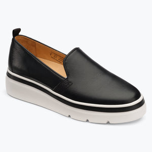 Sutton Leather Sneaker - Black
