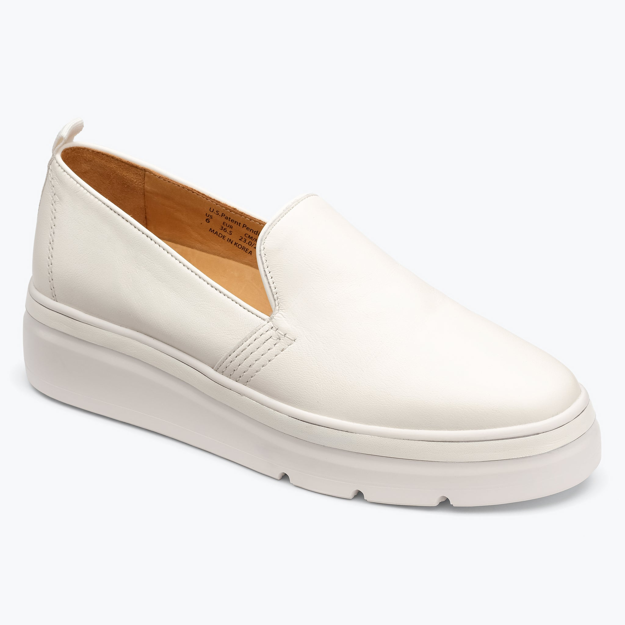 Sutton Leather Sneaker - White