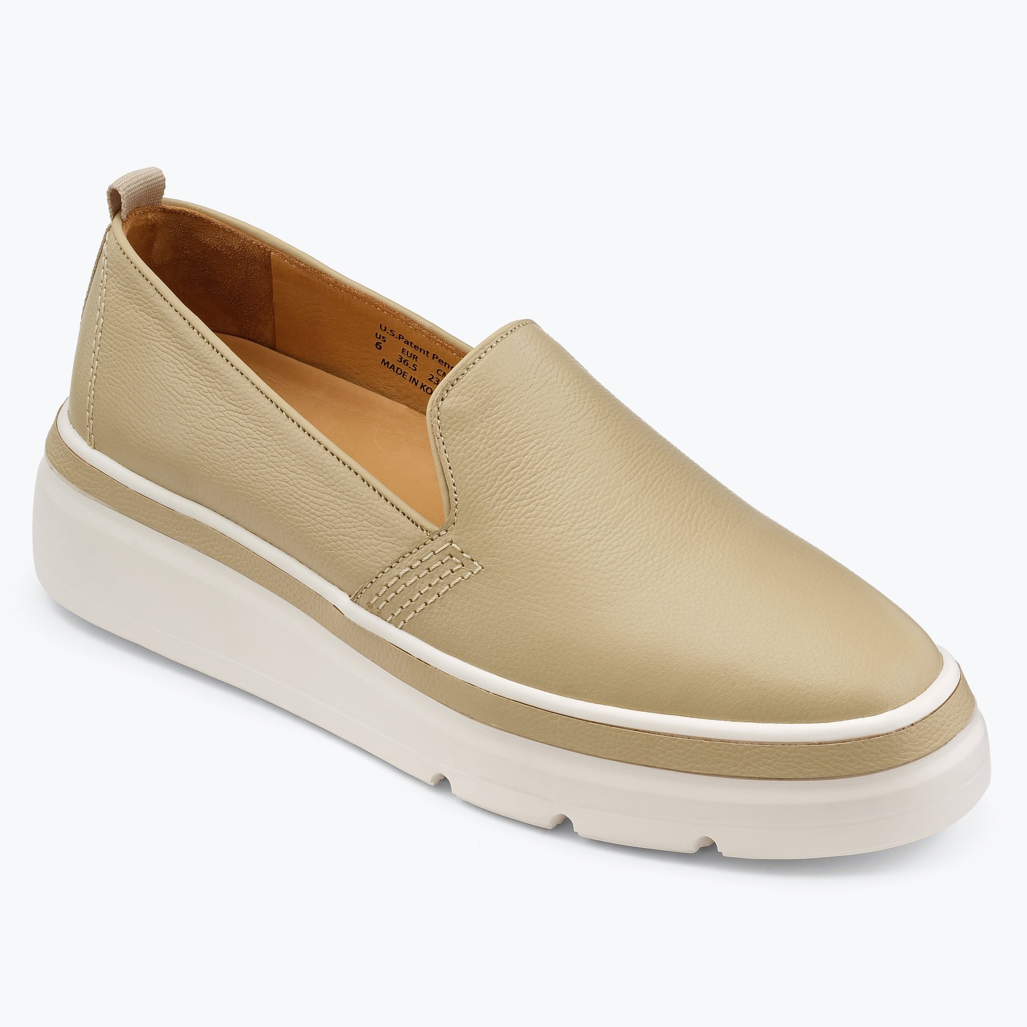 Sutton Leather Sneaker - Oatmeal