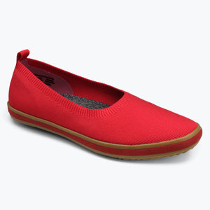 Sutton Knit Ballet - Berry Red