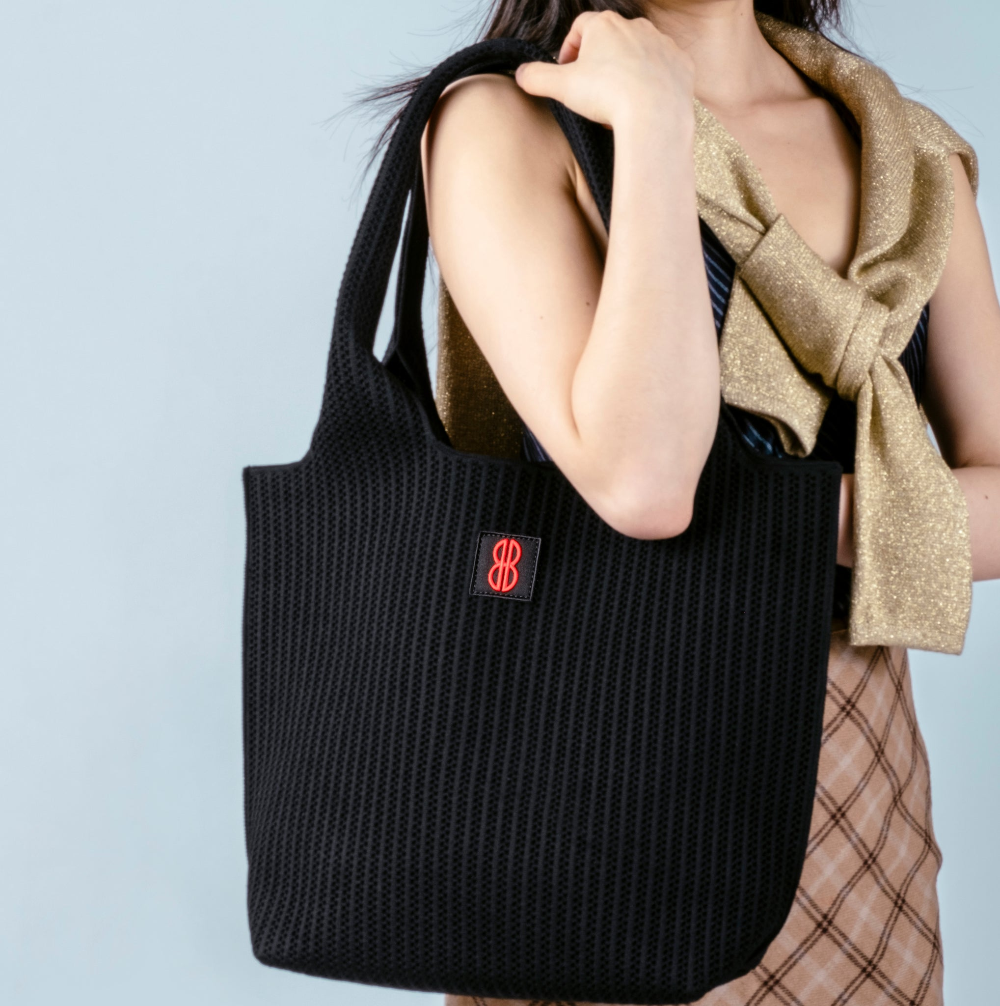 Sutton City Tote - Black Stripe -medium