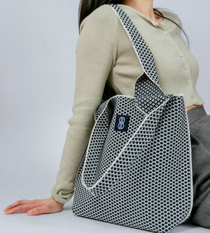 Sutton City Tote - Navy Diamond - Medium