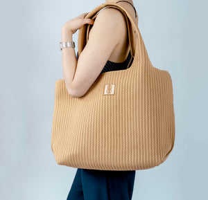 Sutton City Tote - Buckthorn Stripe - large