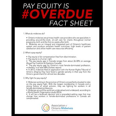 FACT SHEET: #Midwives4PayEquity