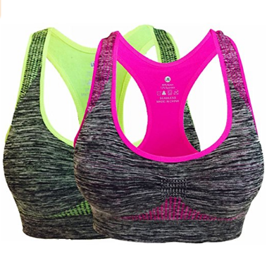 Women's Seamless Sports Bra High Impact Pocket Yoga Bras