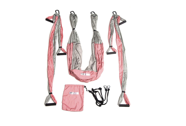 YOGABODY Yoga Trapeze [official] – Yoga Swing/Sling/Inversion Tool, Baby Pink by with Free DVD