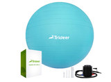 Trideer Exercise Ball (45-85cm) Extra Thick Yoga Ball Chair, Anti-Burst Heavy Duty Stability Ball Supports 2200lbs, Birthing Ball with Quick Pump (Office & Home & Gym)
