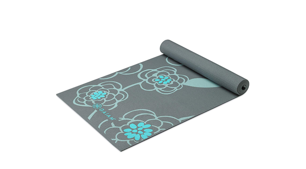 "Gaiam Yoga Mat - Premium 6mm Print Extra Thick Exercise & Fitness Mat for All Types of Yoga, Pilates & Floor Exercises (68"" x 24"" x 6mm Thick)"