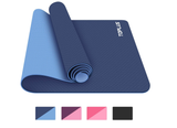 TOPLUS Yoga Mat, 1/4 inch Pro Yoga Mat TPE Eco Friendly Non Slip Fitness Exercise Mat with Carrying Strap-Workout Mat for Yoga, Pilates and Floor Exercises