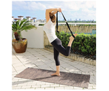 Natural Jute Yoga Mat Eco-Friendly Non-Toxic Reversible Organic Jute PER - Carry Stretching Strap – Anti-Slip Anti-Bacterial - Extra Long 72 Inch - 5mm Thick - All Types Yoga - Vegan