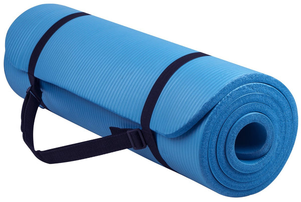 Balanceform GoYoga All-Purpose 1/2-Inch Extra Thick High Density Anti-Tear Exercise Yoga Mat with Carrying Strap