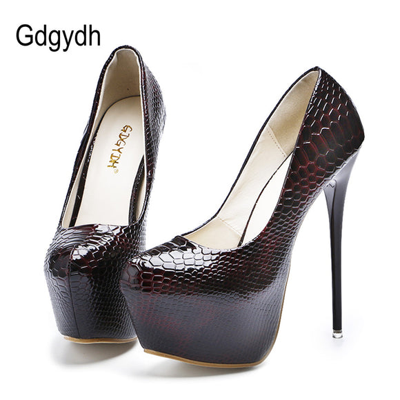 Gdgydh New Sexy Thin High Heels Shoes Women Pumps 2017 Spring Round Toe  Platform Single Shoes ea1305823493