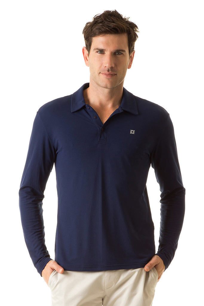 Men's UPF50+ Polo Top (Long Sleeve)