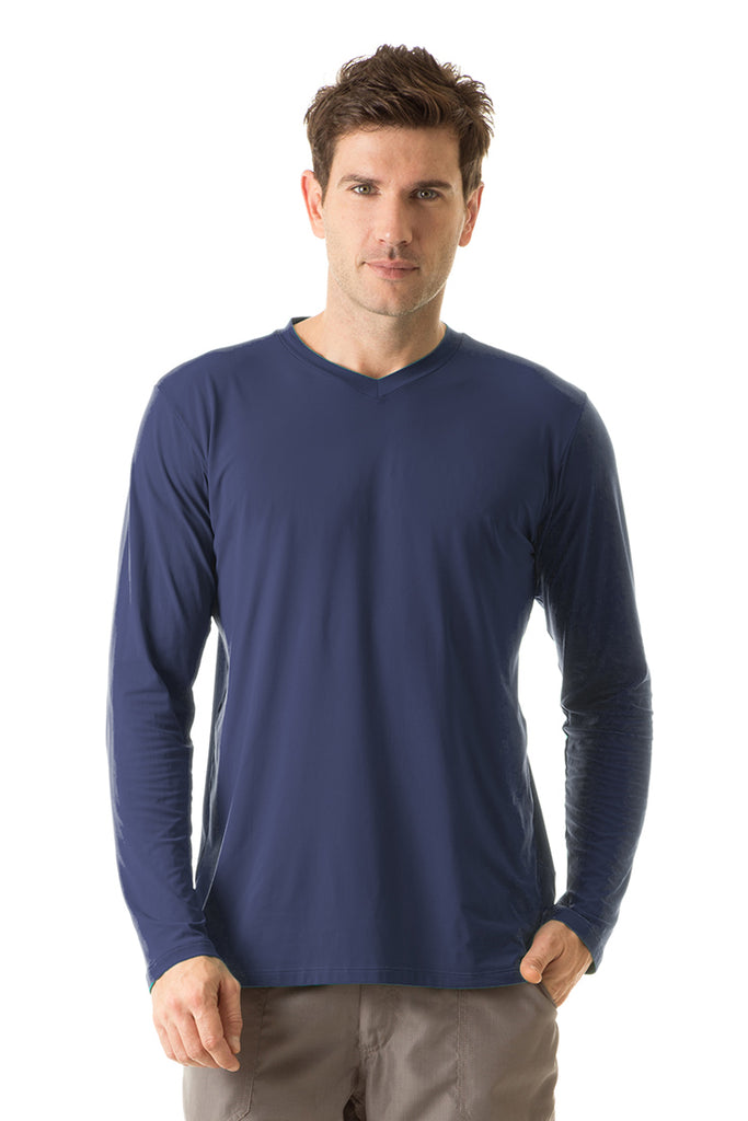 Men's UPF50+ SportFit V-neck top (Long Sleeve)