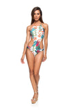 One Piece Trikini (Flamboyant Branco)