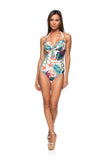 One Piece Swimsuit (Flamboyant Branco)