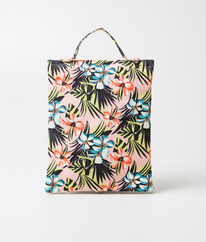 Printed Beach Bag (Flamboyant Preto)