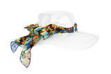 UPF50+ Ladies Reversible Sauipe Hat with Scarf - Wide Brim