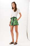 Grass Printed Flare shorts