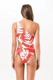 Coral Printed One Piece Swimsuit