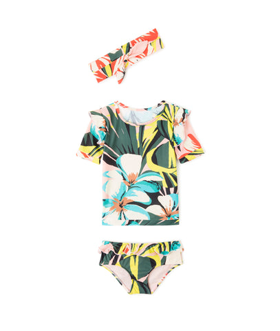 Wanda Ruffled Printed Bikini (Top and Bottom)