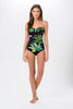 One Piece Printed Swimsuit With Padding