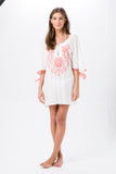 Embroidered Kaftan (White)