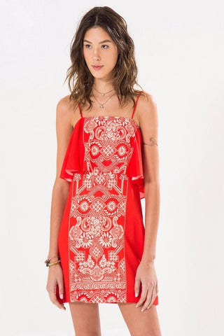 Roseblush Lace Mini Dress