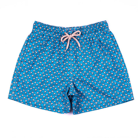 Printed Sailboat Shorts - KIDS